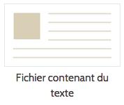omeka fichier contenant texte